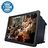 #3: Captcha F2 Mobile Phone 3D Screen Magnifier 3D Video Screen Amplifier Eyes Protection Enlarged Expander Compatible with Xiaomi Mi, Lenovo, Apple, Samsung, Sony, Oppo, Vivo and ALL other Smartphones (1 Year Warranty, Color May Vary)