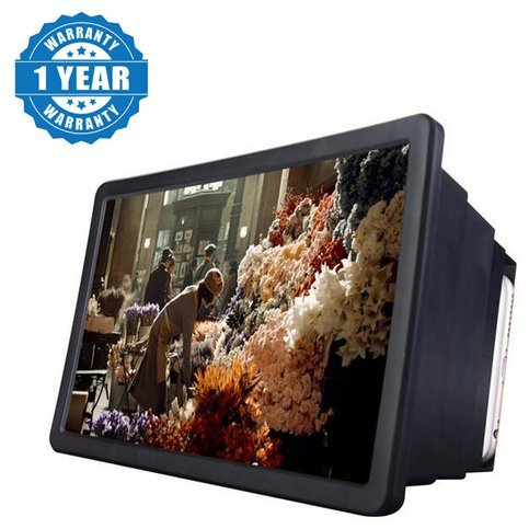 Raptas F2 Mobile Phone 3D Screen Magnifier 3D Video Screen amplifier Eyes Protection Enlarged Expander Compatible with Xiaomi Mi, Lenovo, Apple, Samsung, Sony, Oppo, Vivo Smartphones (1 Year Warranty)  available at amazon for Rs.149