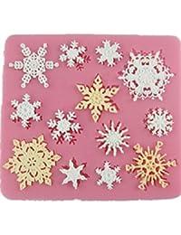 Autek Neige Flocon de neige Forme Fondant savon sucre Artisanat décoration de gâteau de moule de silicone # 127