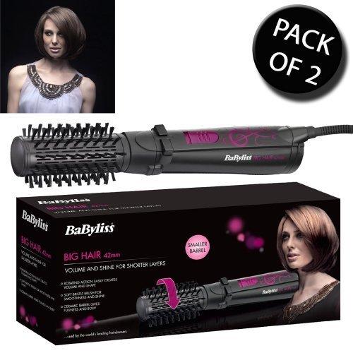 2x-BaByliss-2777U-42mm-Ceramic-Big-Hair-Rotating-Styler-Brush