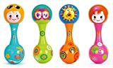 Toyshine Baby Rattle Toy with Soothing Bell Sound, Non-toxic, 1 Pc, Assorted Color