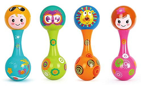 Toyshine Baby Rattle Toy With Soothing Bell Sound - 1 Pc Assorted Color