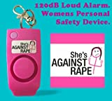 Gadget Hero's She's Against Rape, Women Safety Device With Alarm & Whistle. Loud noise of up to 120dB. Emergency Tactical Self Defence Unit.