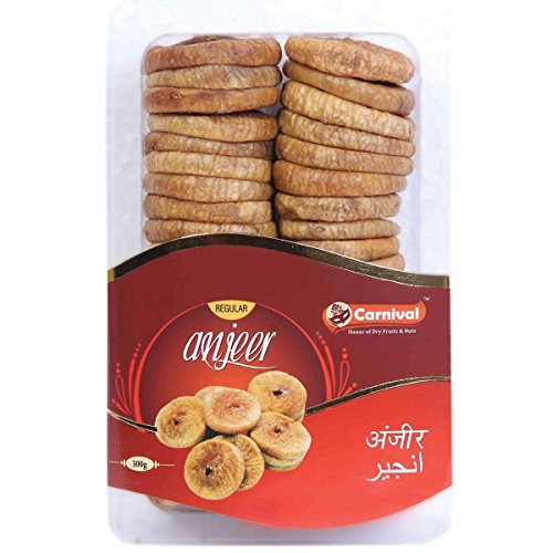 Carnival Anjeer Regular Figs- 300g  available at amazon for Rs.285