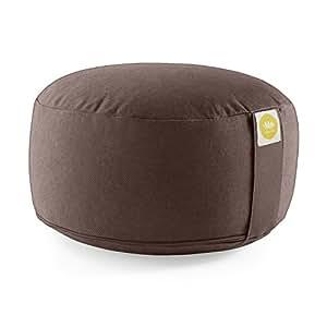Lotuscrafts Cuscino da Meditazione / Yoga LOTUS ECO - Cotone Bio (certificato GOTS) (Chocolate)