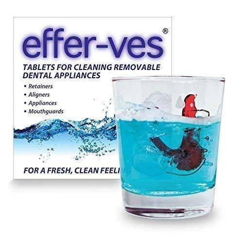 EFFER-VES Reinigungs Tabletten Kieferorthopädisch Zahnspange Mundschutz 32 Tabletten