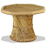 FZYHFA Couchtisch achteckig aus Bambus 60x 60x 45cm Couchtisch Design