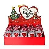 24 Adventskalender Säckchen (12 x 20 cm) aus Filz mit 24 Gründen 'Ich liebe Dich, weil ...' - (für Erwachsene Männer & Frauen geeignet) für Adventskalender zum Befüllen (mit Adventsbox Love)