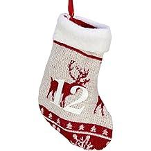foolonli Adventskalender Handschuh Rentier 250cm lang Adventssäckchen Weihnachte