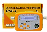 Rilevatore satellitare Edision DSF-1, con display LCD e cavo di collegamento F (SDTV, HDTV, bussola), Arancione