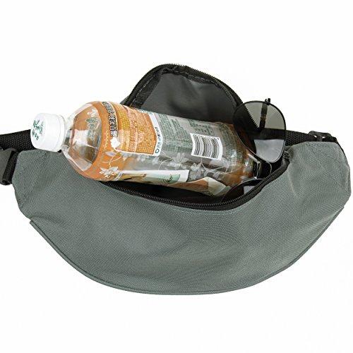 Wander-Hüfttaschen Wasserdicht Bauchtasche Jogging Tasche Gürteltasche mit Reissverschluss in 10 Farben By Sijueam Grau