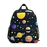 ISAOA 3D Printed Planets Stars Kids Backpacks Kindergarten Preschool Toddler Boys/Girls Bookbag Cute