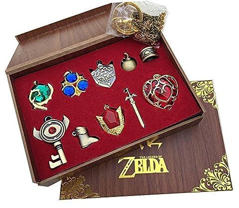The Legend of Zelda Keychain Necklace Pendant Key Set Collection