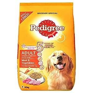 Pedigree Adult Dog Food Meat & Vegetables, 20 kg Pack