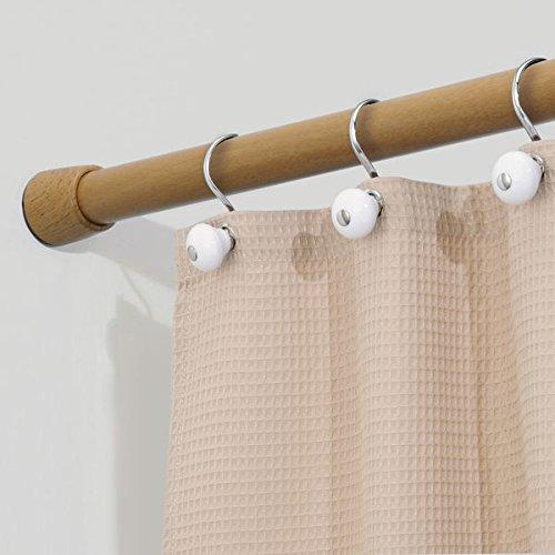 mDesign Asta Doccia Telescopica – Montaggio senza trapano –Bastone Allungabile tenda doccia 127 cm / 221 cm – in acciaio