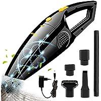 Aspirateur à main, Bukm Batterie Aspirateur sans fil 2200mAh Wet & Dry Aspirateur de voiture, du bruit–Aspirateur sans fil sans sac avec 120W Aspirateur cyclonique pour voiture maison