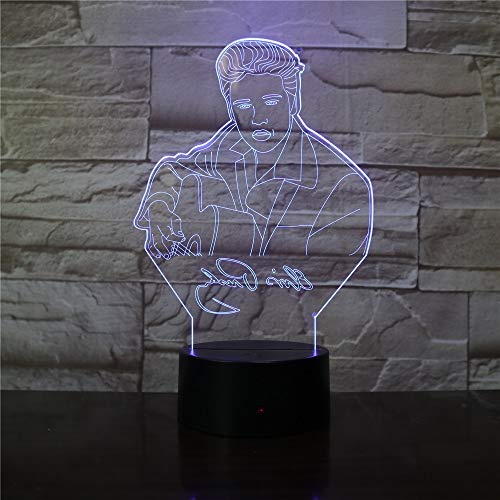 Lampada da tavolo rock king night light music atmosfera touch sensor regalo di compleanno