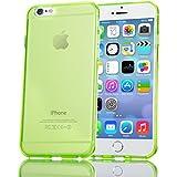 iPhone 6 6S Hülle Handyhülle von NICA, Ultra-Slim Silikon Case Crystal Schutzhülle Dünn Durchsichtig, Handy-Tasche Back-Cover Transparent Bumper für Apple iPhone 6S 6 - Grün Transparent