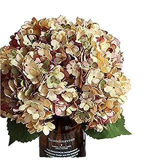 La Mode – Flores artificiales de seda para hortensias de oficina, hogar, banquete, fotografía, decoración, arreglos lavables, 2 ramos