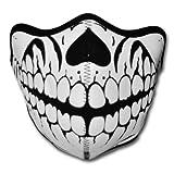 WINDMASK Neopren Biker Motorrad Maske Sturmmaske Skimaske - Skull Face