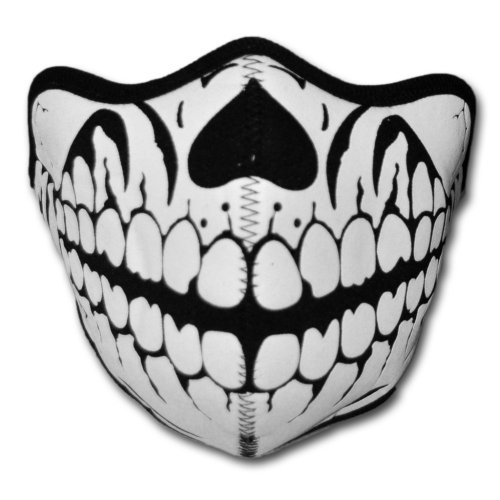 WINDMASK Neopren Biker Motorrad Maske Sturmmaske Skimaske - Skull Face Totenkopf #103