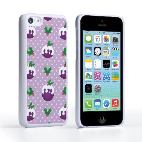 Caseflex iPhone 5C Case Purple Christmas Pudding Hard Cover