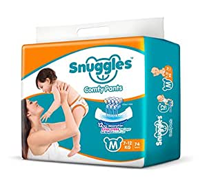 Snuggles Standard Medium Size Diaper Pants (74 Count)