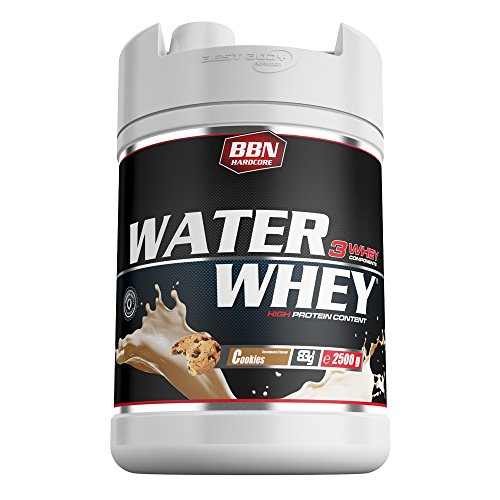 BBN Hardcore Water Whey Protein Cookies'n'Cream 2500 g Dose
