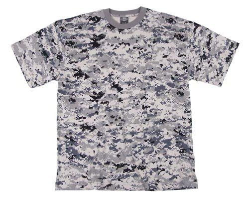 US Army T-Shirt Digital-Metro XS-XXL L L,Urban (T-shirt Camouflage Baumwolle)