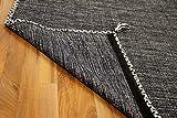 Natur Teppich Bauwolle Kelim Prico Anthrazit in 8 Größen