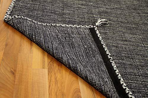 Prico - Tapis Kilim Naturel - Gris/Anthracite - 8 Tailles Disponibles