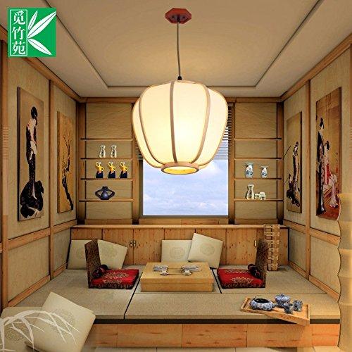 Hängeleuchte Kronleuchter Home japanische Kronleuchter wintermelon pergament Papier Laternen chinesischen Wohnzimmer Schlafzimmer restaurant Lampe Bambus balkon Gang, 27 * 25 cm Lampe (Decke-laterne Japanische)