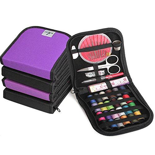25 Stk multifunktionale Mini Sewing Kit Lieferungen festgelegt Compact mit Reißverschluss gefüllt mit Nähen Essentials für Reisen Camping (Nähen Gefüllt)