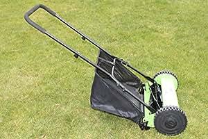 Olive Grove - Tondeuse à gazon manuelle avec 5lames de 14pouces, rouleau et collecteur d'herbe