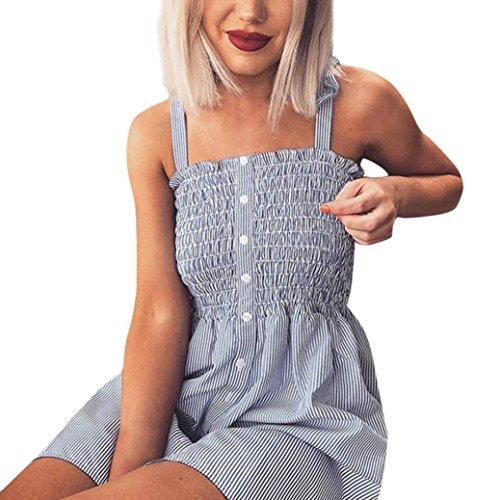 (Frauen Druckknöpfe Aus Schulter Ärmelloses Kleid Prinzessin Kleid,Jaminy Sommerkleider Lange Ärmel Schulterkleid Blumenmuster Strandkleid (M))