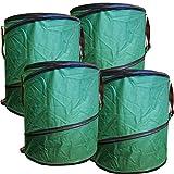 4x Gartenabfalltonne Pop Up faltbarer Gartensack 160 Liter Laubsack aus stabilen Oxford Nylon bis 50 Kilo
