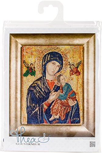 Thea Gouverneur TG551A Kreuzstich-Set, 25,4 x 31,8 cm, Aida, 18 Stück - Kreuzstich-thea Gouverneur