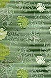Bodenbelag Sympa Nova Premium Weichschaum Badematte Matte Monstera grün 130 breit Meterware