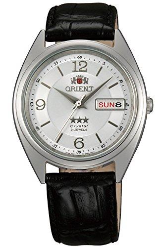 Orient Unisex Erwachsene Analog Automatik Uhr mit Leder Armband FAB0000KW9