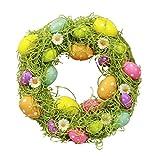 HAAC Eierkranz Ostereier Eier Deko Kranz Türkranz Frühling Ostern 30 cm Farbe bunt