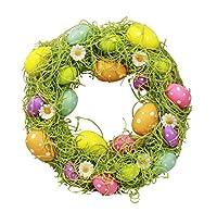1X uova Kranz-Corona porta Kranz Primavera Pasqua di HAAC. Diametro 30cm. colore: Multicolore. Materiale: plastica. Super per Pasqua e primavera Deko adatto.
