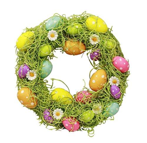 eier Eier Deko Kranz Türkranz Frühling Ostern 30 cm Farbe bunt ()