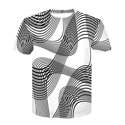XJWDTX Lässige Herren 3D Printed Notes Kurzarm T-Shirt - Pfefferminz-noten
