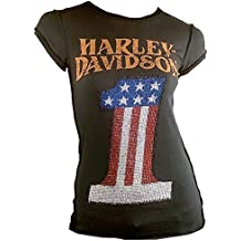 H D Classic T-Shirt oficial de colour gris oscuro para mujer Harley Davidson Mer