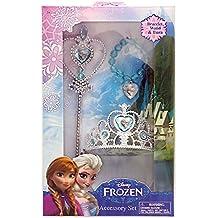 Disney 755023 - Frozen Set Principessa, Corona, Bacchetta, Braccialetto in Confezione Regalo, 18 x 5 (Disney Castello)