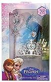 Disney 755023 - Frozen Set Principessa, Corona, Bacchetta, Braccialetto in Confezione Regalo, 18 x 5 x 30 cm