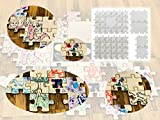 Hochzeitspuzzle / Gästebuch mit unendlicher Erweiterbarkeit zum Bemalen Beschriften Basteln
