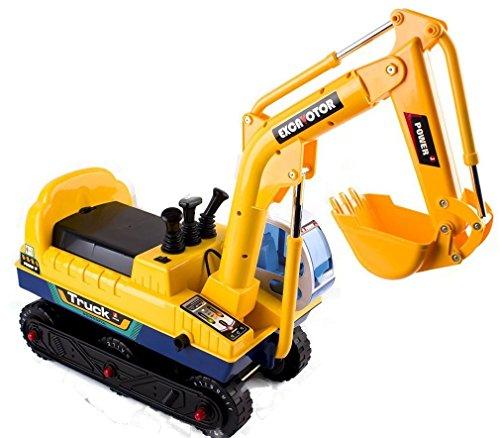 deAO Veicolo Escavatore Elettrico Cavalcabile per Bambini Auto Senza Pedali Migliora L'equilibrio