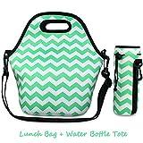 Magic Zone Borsa Termica Neoprene impermeabile all'aperto viaggio borsa da picnic con cerniera, Porta Pranzo Borse Alimenti,borsa della bottiglia d'acqua regolabile cinturino a tracolla