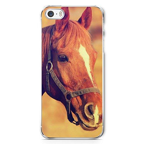 Pferd Foto - Handy Hülle für iPhone 5 | 5s | SE - Schutz Cover Case Schale Pferde Tier Tiere